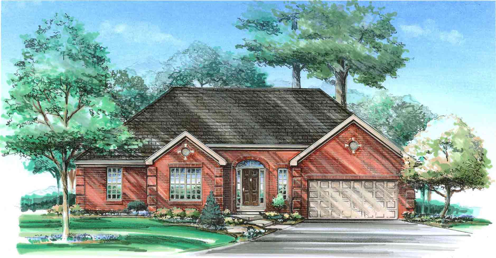 Columbia ii ranch homes for sale in columbus ohio for Ranch home builders ohio